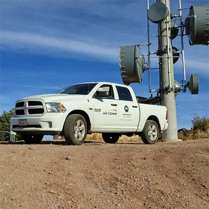 Air Comm Truck on Antenna Hill