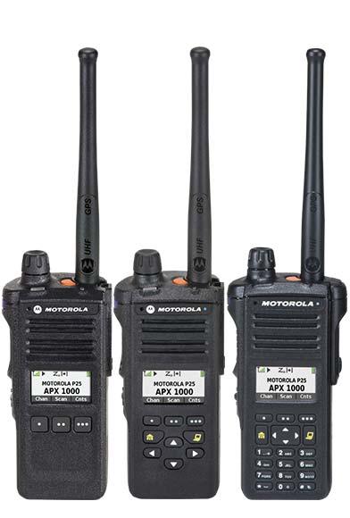 Motorola Apx 1000 P25 Two Way Radios By Air Comm Phoenix